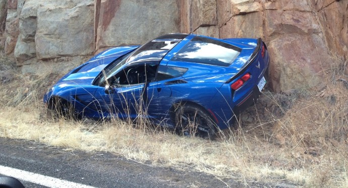 It Had To Happen Eventually First C7 Corvette Accident On The Books