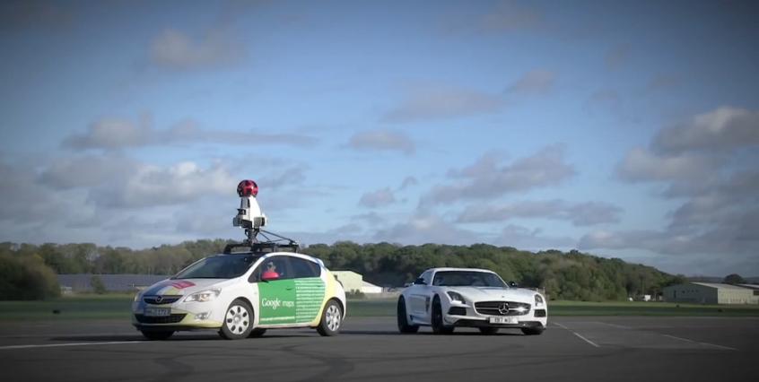 The Stig Vs. Google Street View Car
