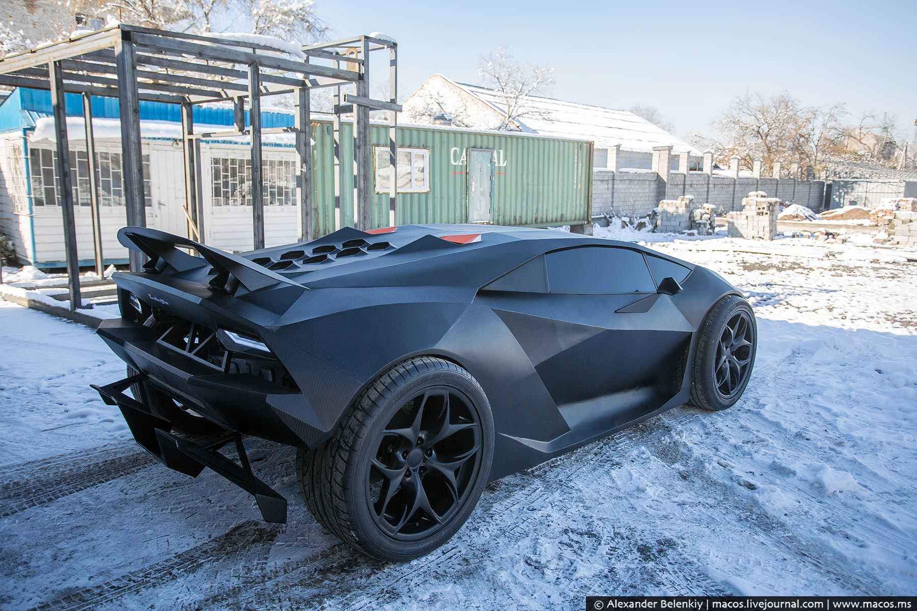 Awesome But It Does Look Just Like A Lamborghini Sesto Elemento, Which Is A Pretty  Incredible Feat.