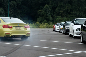 Watch the 2015 BMW M4 Coupe drift around other M models