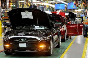 Ford begins production of the 2015 Mustang