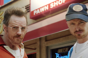 Bryan Cranston and Aaron Paul reunite to promote the Emmys
