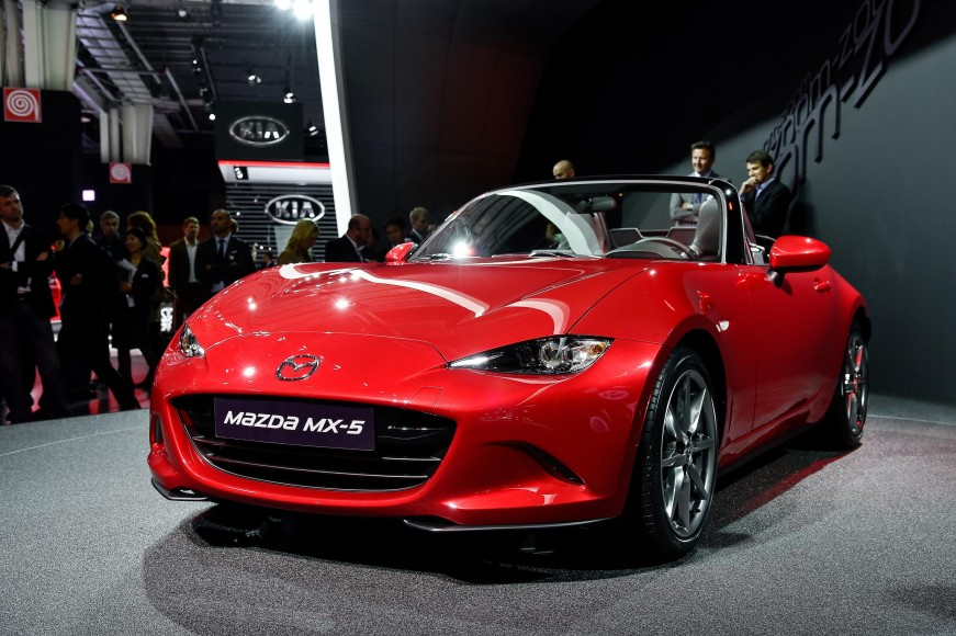 New 2016 Mazda MX5 Miata Live Photos 2014 Paris Motor Show