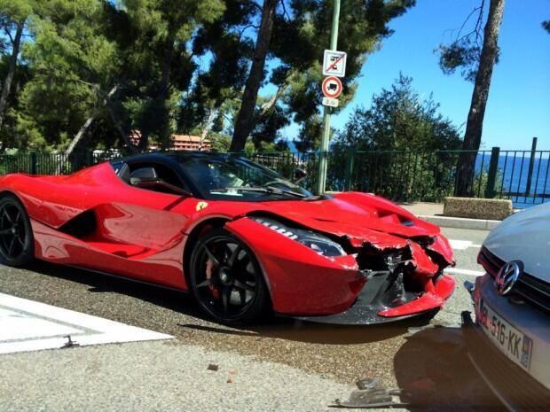 Ferrari LaFerrari crash